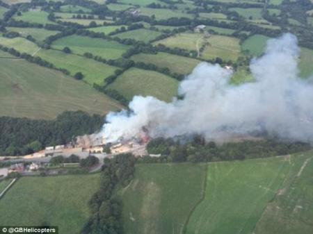 Major incident at Cheshire wood plant