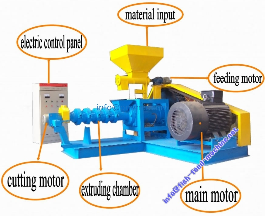 Dry Type Fish Feed Extruder for Making fish feed Pellet