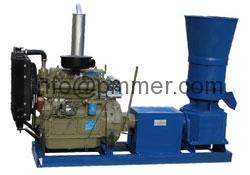 Flat Die Wood Pellet Machine-Diesel Engine