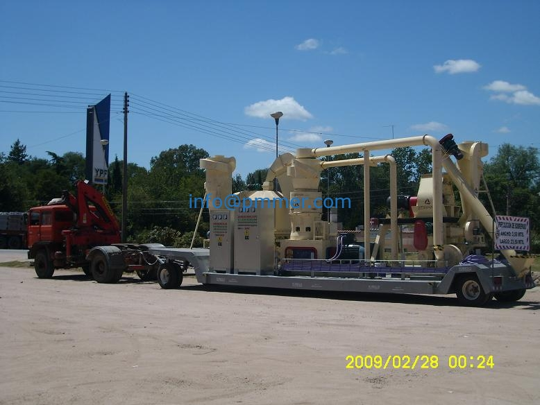 Mobile wood Pellet plant in Argentina