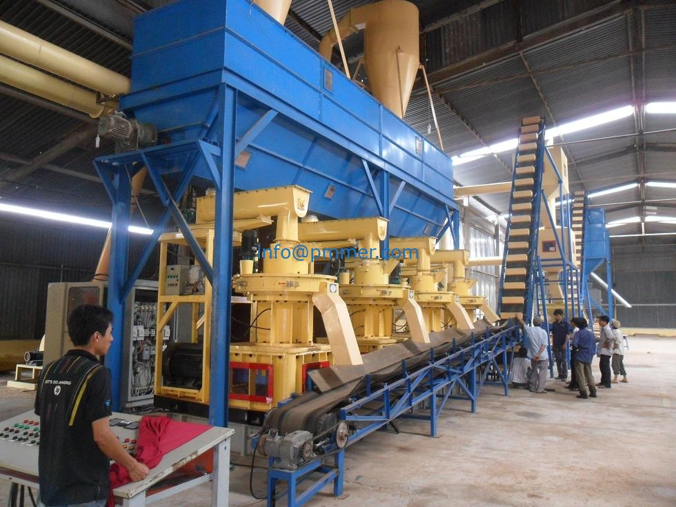 Vietnam Wood pellet production line 4-6TPH