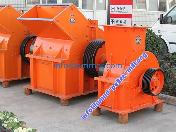 Wood crusher hammer mill